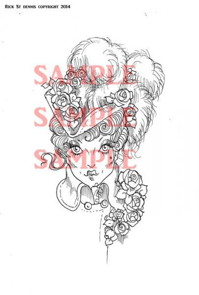 "Shady Ladies ""Rose Thorn"" digi stamp"
