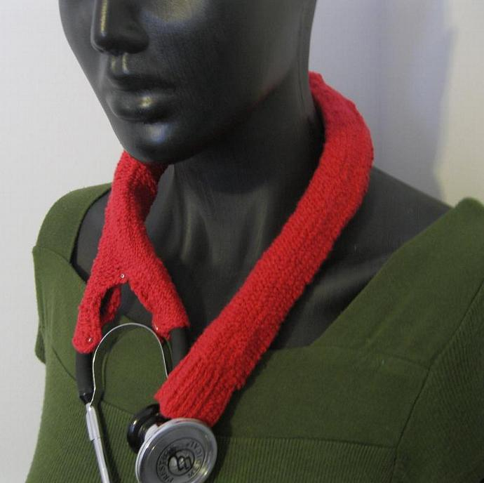 red Stethoscope cover/ cozy/ sock