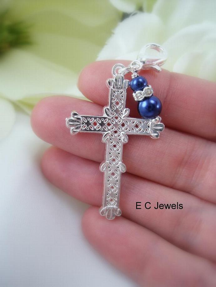 Bridal Bouquet Cross - Something Blue