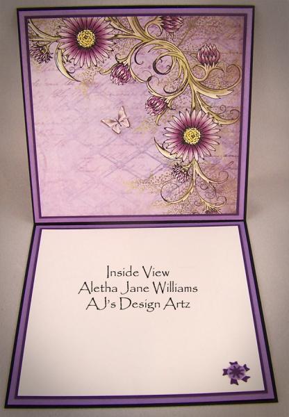 Petunia Sprite Handmade Fantasy OOAK Art Card by AJ's Designs