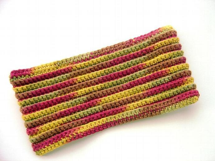 Autumn Leaves Reusable Dry Crochet Swiffer Cover