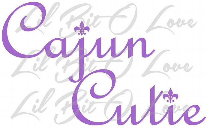 Cajun Cutie Vinyl Decal Sticker with Fleur De Lis Car Truck Auto RV window