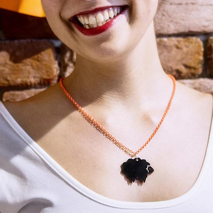 Black Sheep Necklace,Sheep Jewelry,Plexiglass Jewelry,Gifts Under 25