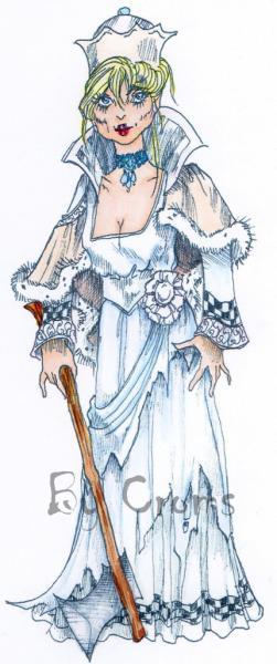 The White Queen digi stamp
