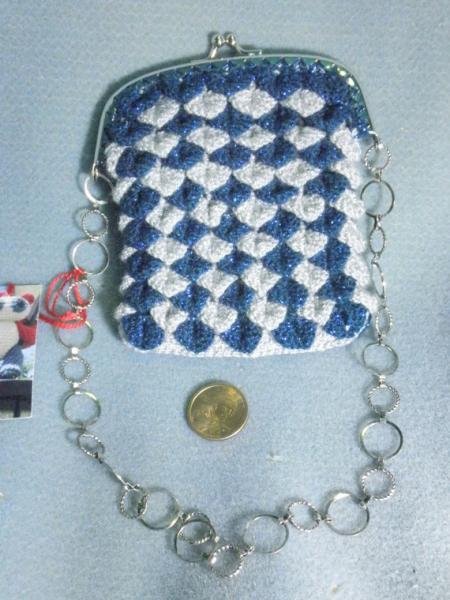 Blue & Silver Steampunk / Art Deco Evening bag / Dice bag