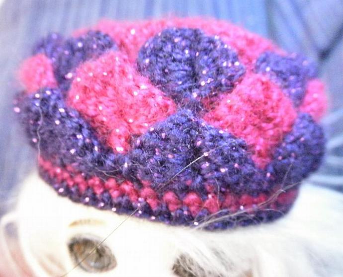 Pink & Purple Pukifee scaled petal dress