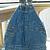 Recycled Infant Denim Overalls Handbag