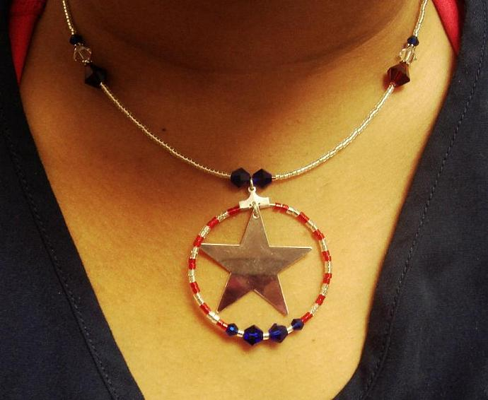 Red, White & Blue Necklace