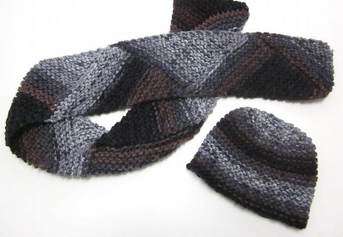 Men's Winter Hat and Scarf Set