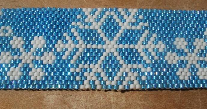 Blue Snowflake Bracelet