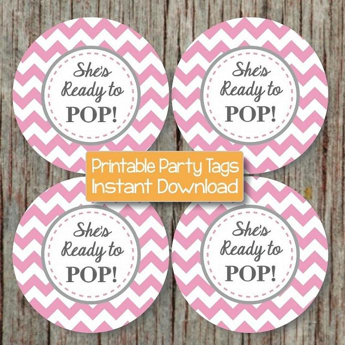 ready to pop printable baby shower stickers party favor baby shower
