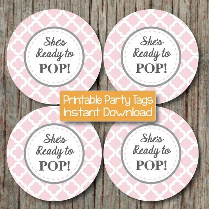 She39s ready to pop baby shower by bumpandbeyonddesigns on zibbet for About to pop labels
