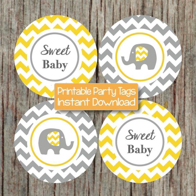 yellow grey baby shower decorations bumpandbeyonddesigns