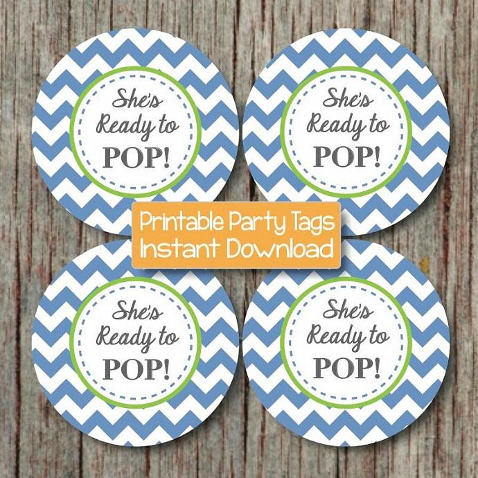 ready to pop printable sticker favor tags cupcake toppers labels baby