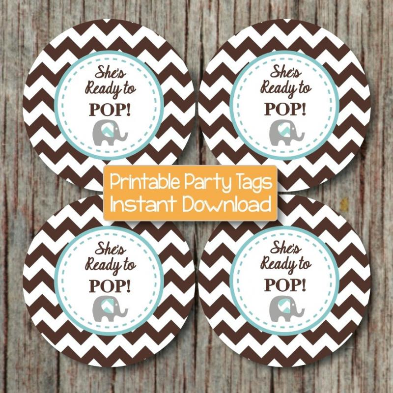 ready to pop baby shower cupcake bumpandbeyonddesigns