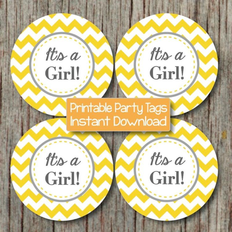 It 39 s a girl printable baby shower bumpandbeyonddesigns for It s a girl dekoration