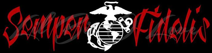 USMC Semper Fidelis Vinyl Decal Semper Fi Marine Corps - Sticker Window Car