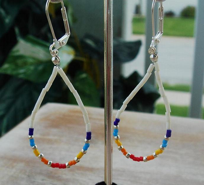 Multi Colored Dangle Earrings