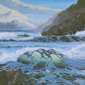 """The Tide Is In"" Giclee Paper Print Seascape by Carol Thompson"