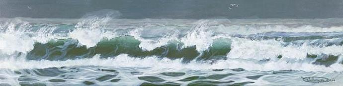 """Chaos"" Giclee Paper Print Seascape by Carol Thompson"