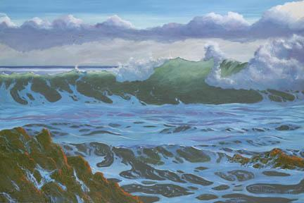 """Fair Weather Sea"" Giclee Paper Print by Carol Thompson"