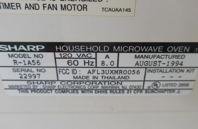 Sharp Half Pint Microwave Oven Carousel Lauraslastditch