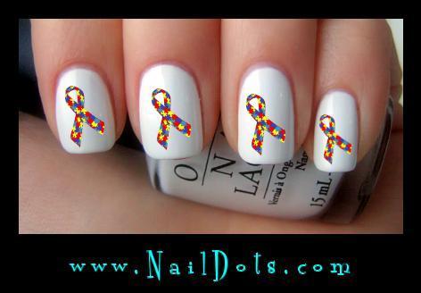 Awareness Ribbon Nail Art Awareness Ribbons Nail Art