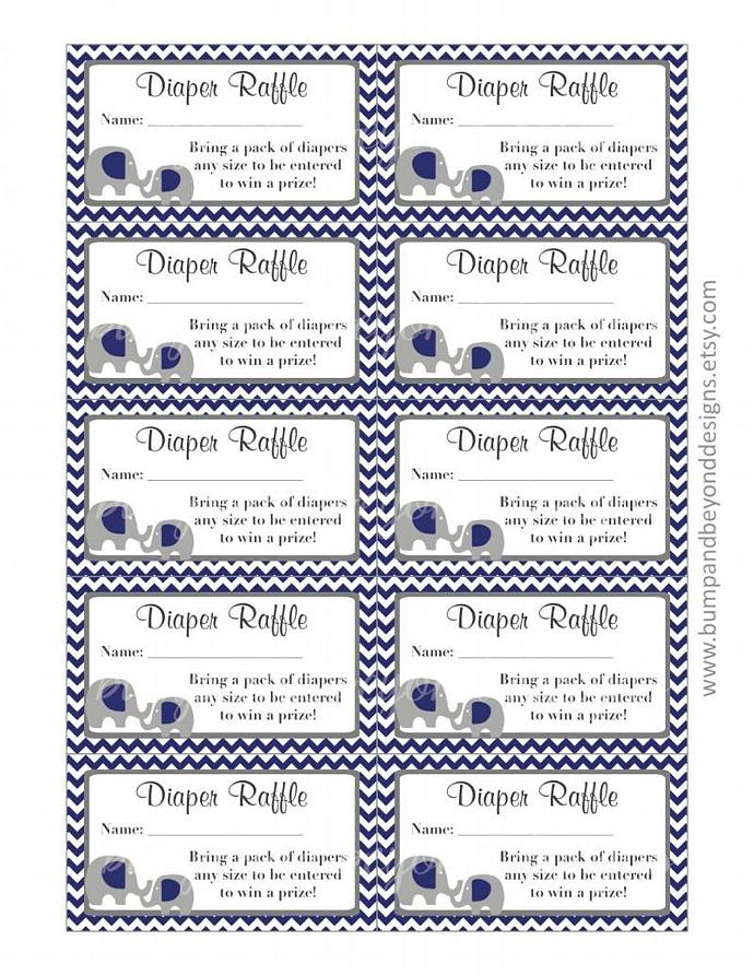 Diaper Raffle Tickets Baby Shower Bumpandbeyonddesigns