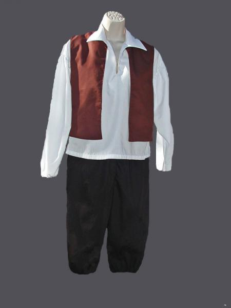 Costume Vest, Shirt, Britches for Boys