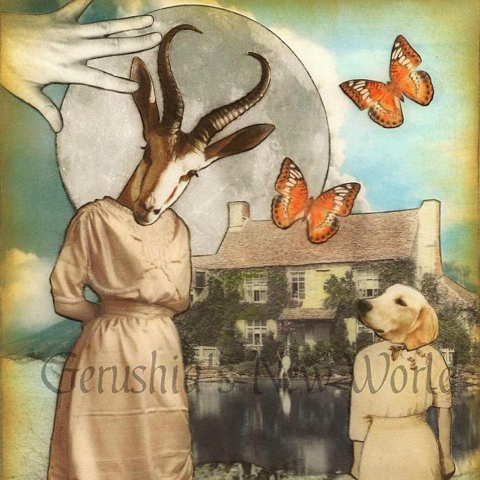 NEW - A Secret Invitation for Maragild - Anthropomorphic Watercolor Collage