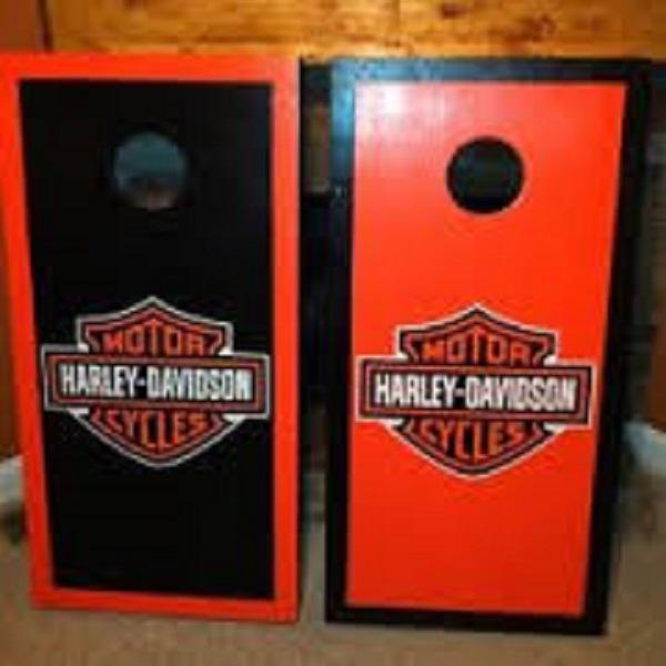 harley davidson cornhole boards | chesterswoodworking