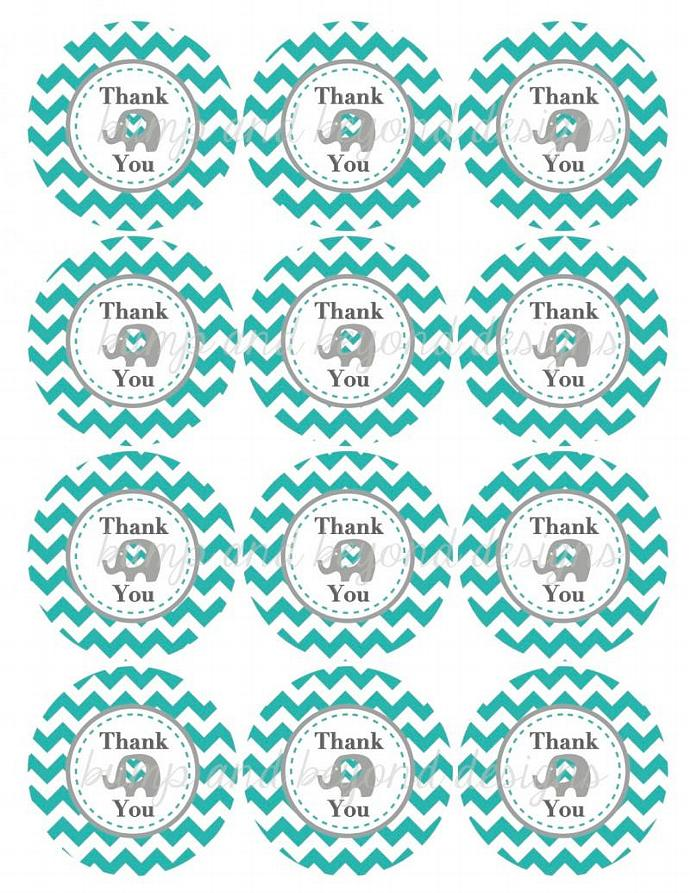 ... Elephant Printable Thank You Tags Baby Shower Favor Tags Digital diy