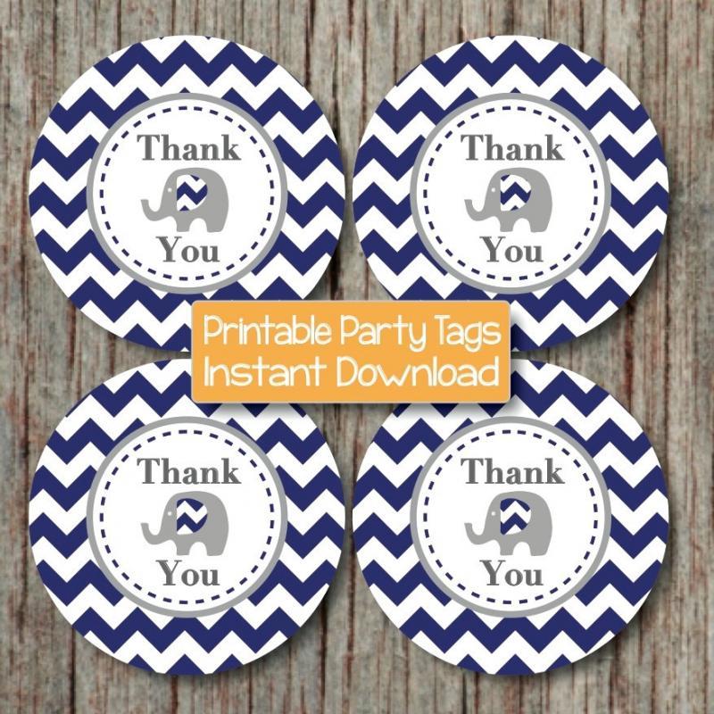 Thank You Tags Elephant Printable by bumpandbeyonddesigns ...