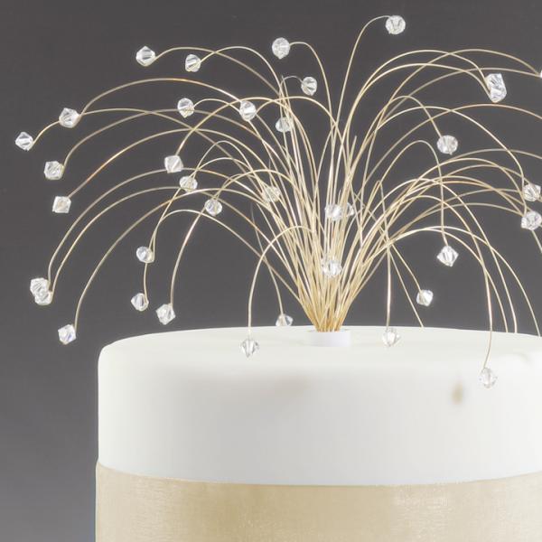 Gold And Clear Crystal Spray Fireworks Wedding By Byapryl