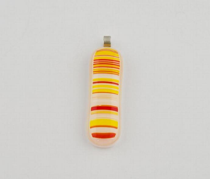 Striped Fused Glass Pendant