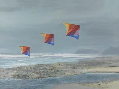 """Rainbow Skynasaurs"" Giclee Paper Print by Carol Thompson"