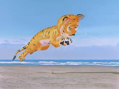 """Flying Bengal Tiger"" Giclee Paper Print by Carol Thompson"