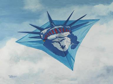 """Lady Liberty"" Giclee Paper Print by Carol Thompson"