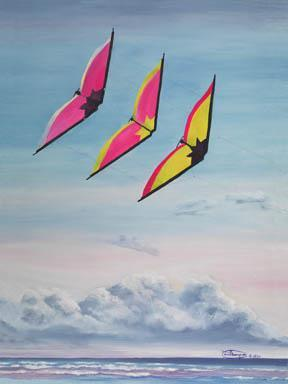 """Ramjets"" Giclee Paper Print by Carol Thompson"