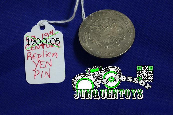 Kirin Province Replica 1900-05 ~ Chinese Dragon ~ Lucky Coin Pin ~ Good Luck