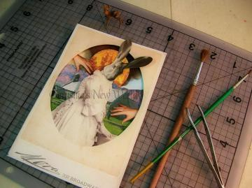 NEW - Portrait of Mayor Ricarda - Anthropomorphic Watercolor Collage Fairy Tale