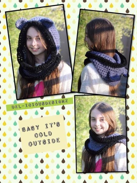Snuggly Bear Hooded Cowl