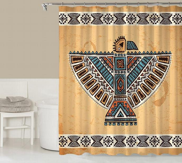 Tribal Shower Curtain Contemporary Bathroom By Codysloft