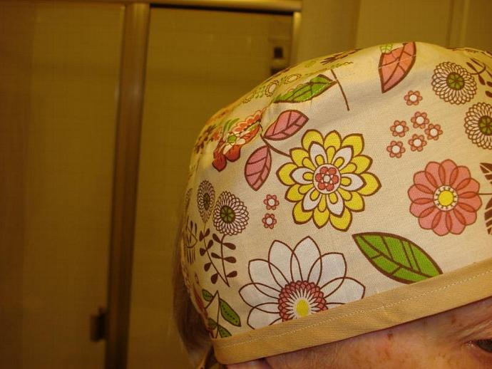 Spring Floral Scrub / Chef / Cancer hat