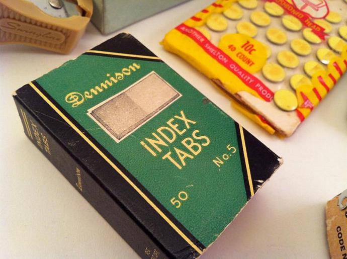 Vintage Office Supplies Retro cool.