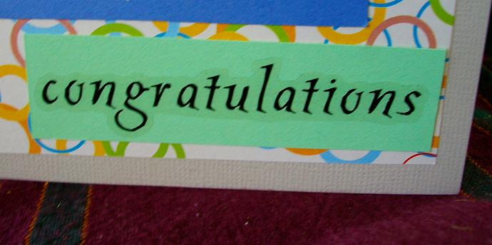 Congratulations bear card