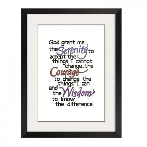 ALL STITCHES - SERENITY PRAYER CROSS STITCH PATTERN .PDF -138