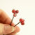 Red Bobby Pins,  Hair Accessory,  Handmade Beaded Red Stone Casual Everyday Wear