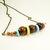 Geometric Wood & Button Necklace, Beaded Jewelry, Minimalist Necklace, Pastel