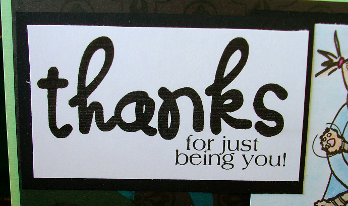 Thanks for being you girl card